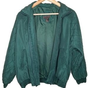Vintage 80's Quilted SIlk Bomber S